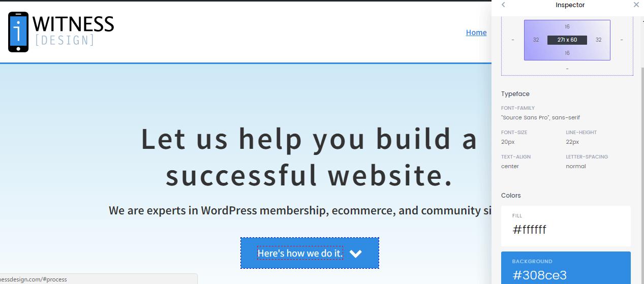 CSS Peeper Example