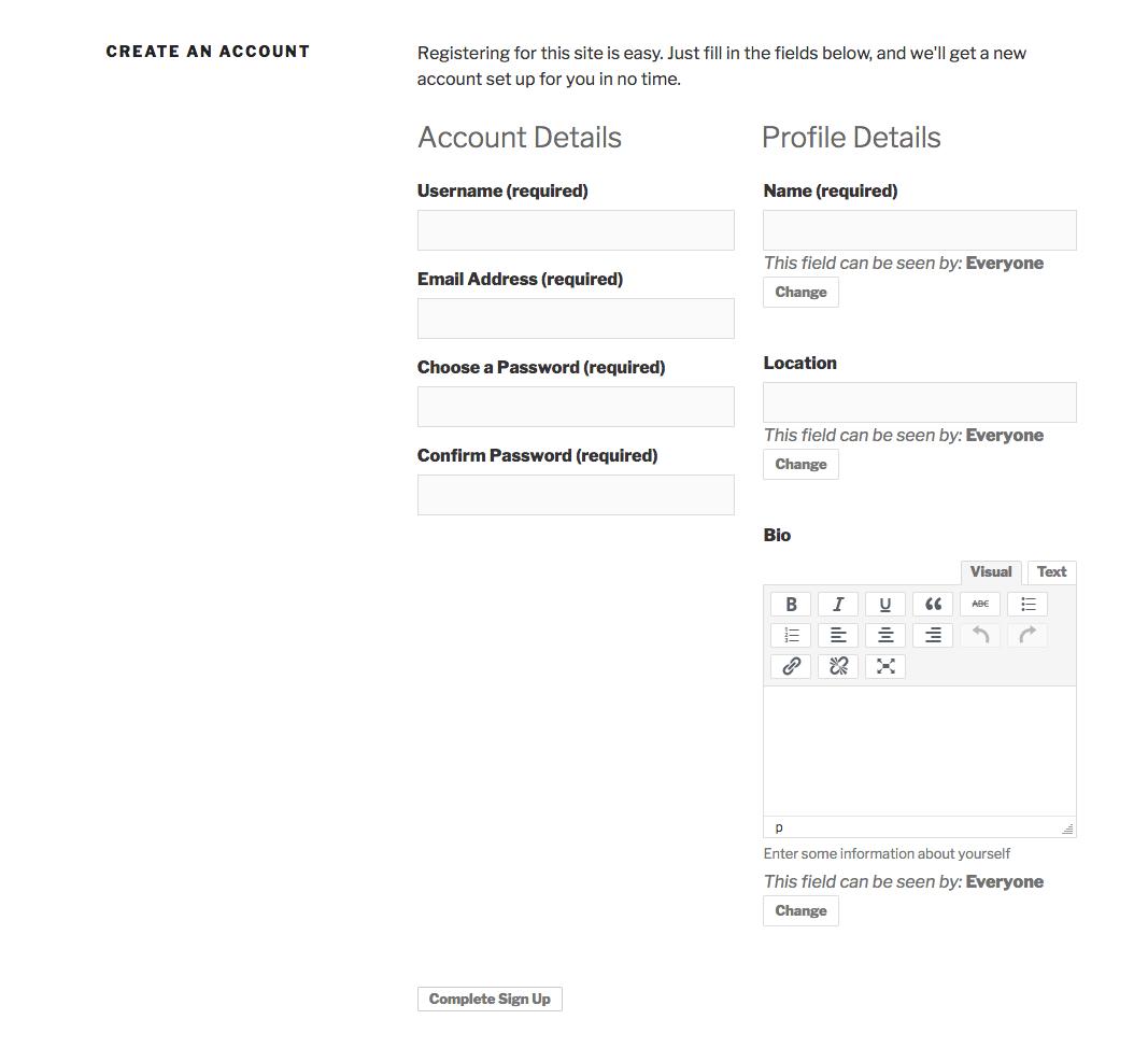 BuddyPress Premium Member Registration | iWitness Design