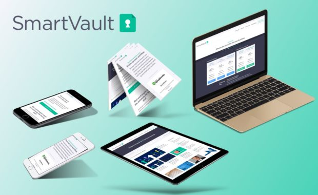 multiple devices showing SmartVault's website