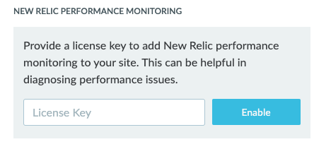 New Relic License Key